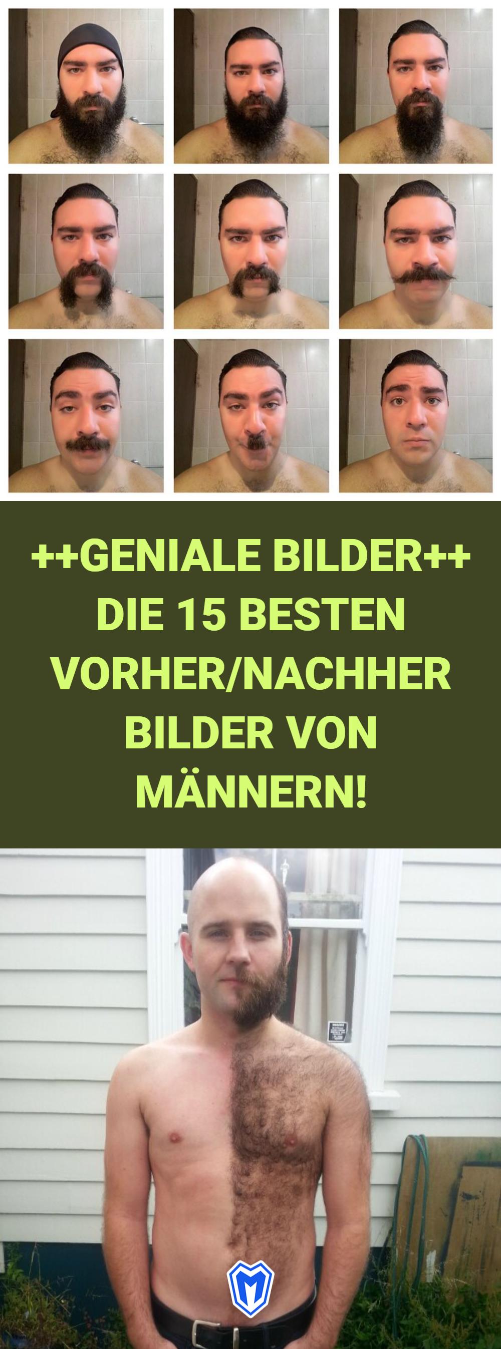 Die 20 besten Vorher/Nachher Bilder von Männern, die sich den Bart ...
