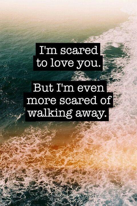I Want To Love You But I M Scared But I M Even More Afraid To Walk