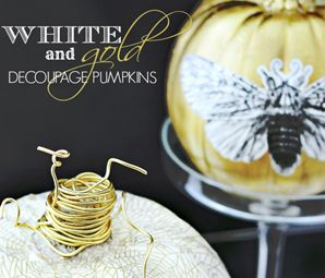 Gilded Gourds - Add Some Sparkle to Your Halloween by