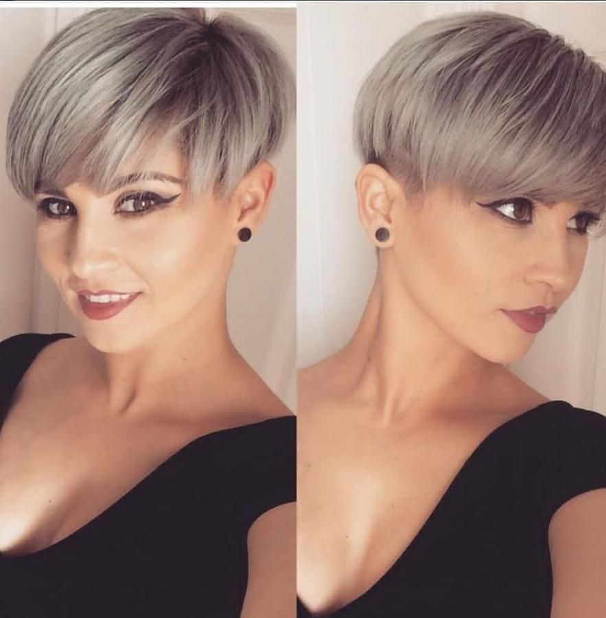 23 Short Hair Styles And Colors Are The Most Popular In Spring 2020 Lily Fashion Style In 2020 Short Hair Styles Thick Hair Styles Short Hair Styles Pixie