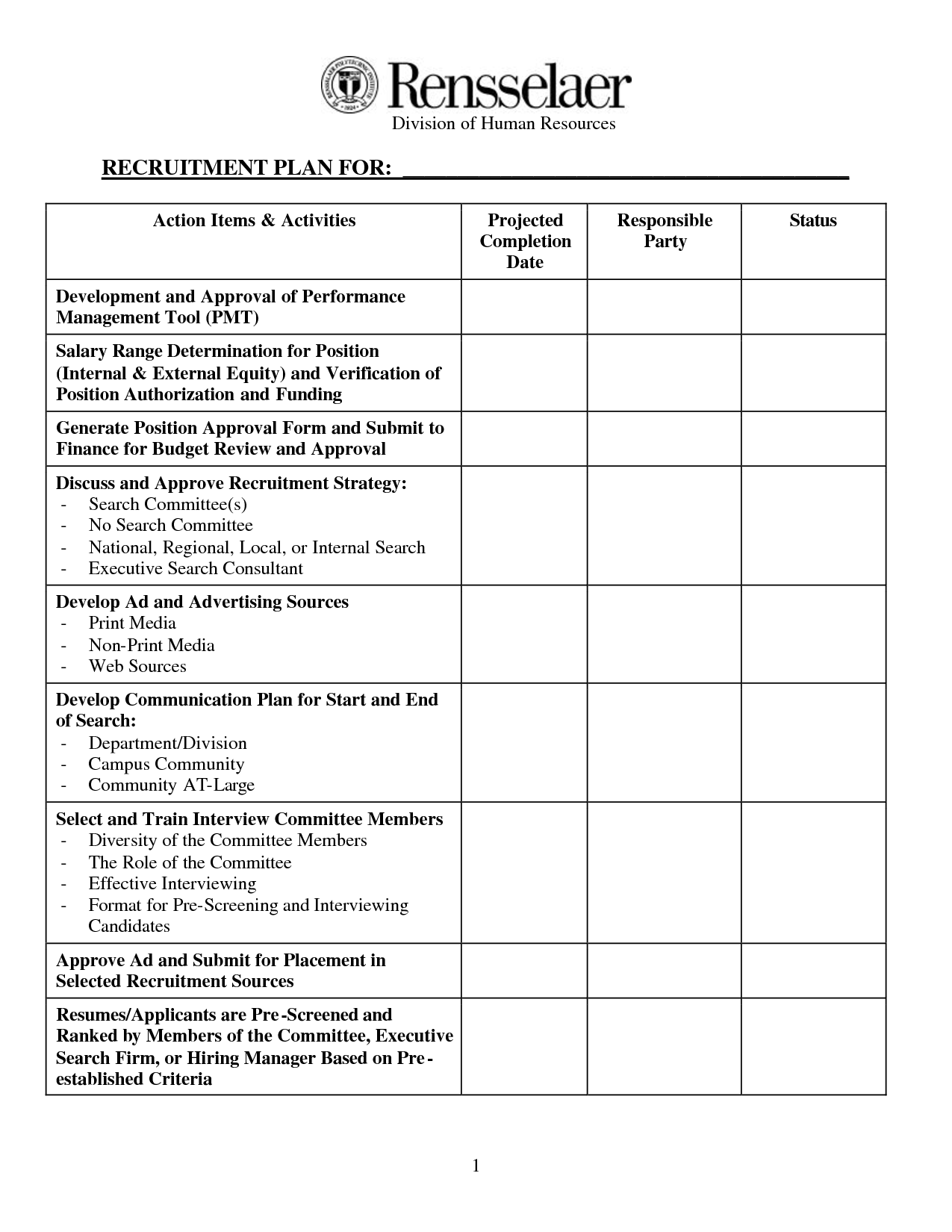 Recruitment Forms And Templates  Recruiter Forms