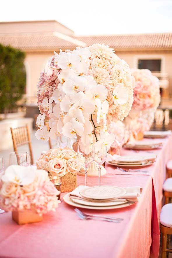Romantische tischdeko hochzeitsdekoration braut tischdeko und blumen - Brautpaar tischdeko ...