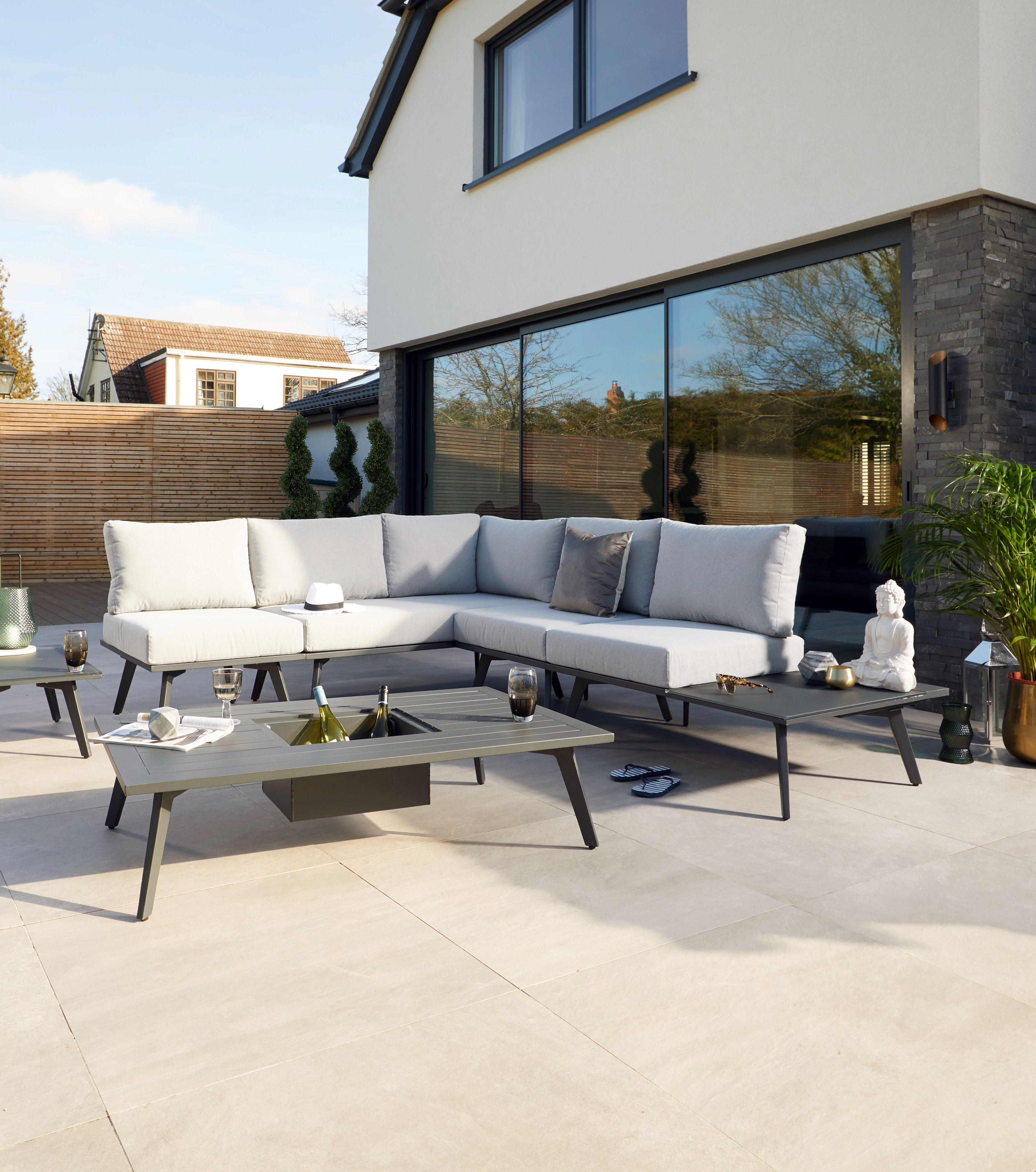 Update your modern garden with this sleek and contemporary modular garden sofa the bali modular range means you can create your own garden sofa