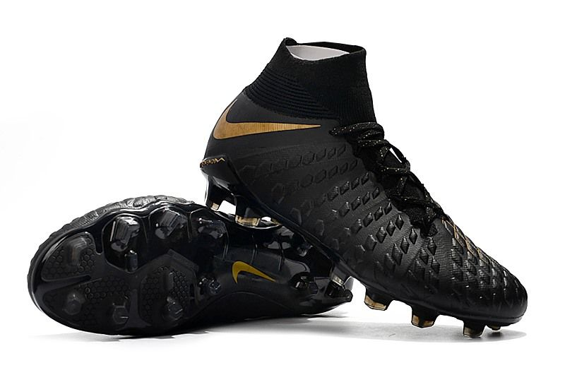 Nike Hypervenom Phantom III DF FG Cleats Black Gold  79e513c08287d