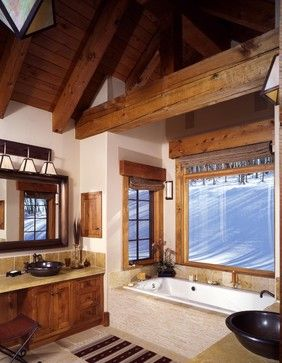 Cabin Master Bathroom Design Ideas, Pictures, Remodel, and Decor - page 4