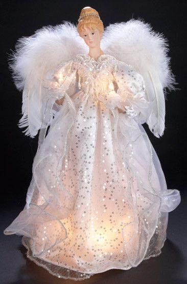 Lighted Christmas Tree Topper Angel
