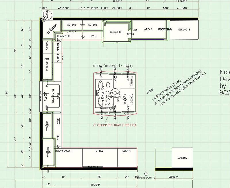 Traditional Kitchen Floor Plan 1 Kitchen Floor Plans Floor Plans Barn Kitchen