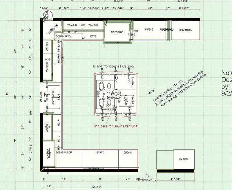 Traditional Kitchen Floor Plan 1 Kitchen Floor Plans Floor