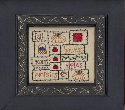 Fall Frame MAC-F14 Frame for Fall cross stitch pattern