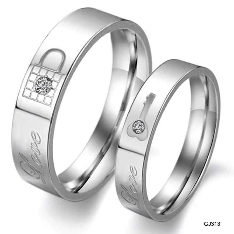 Titanium Stainless Steel CZ Love Lock & Key Promise Ring Couple Wedding Gift Box    eBay -   - #BOX #Couple #eBay #Gift #Key #Lock #Love #Promise #Ring #stainless #steel #Titanium #wedding