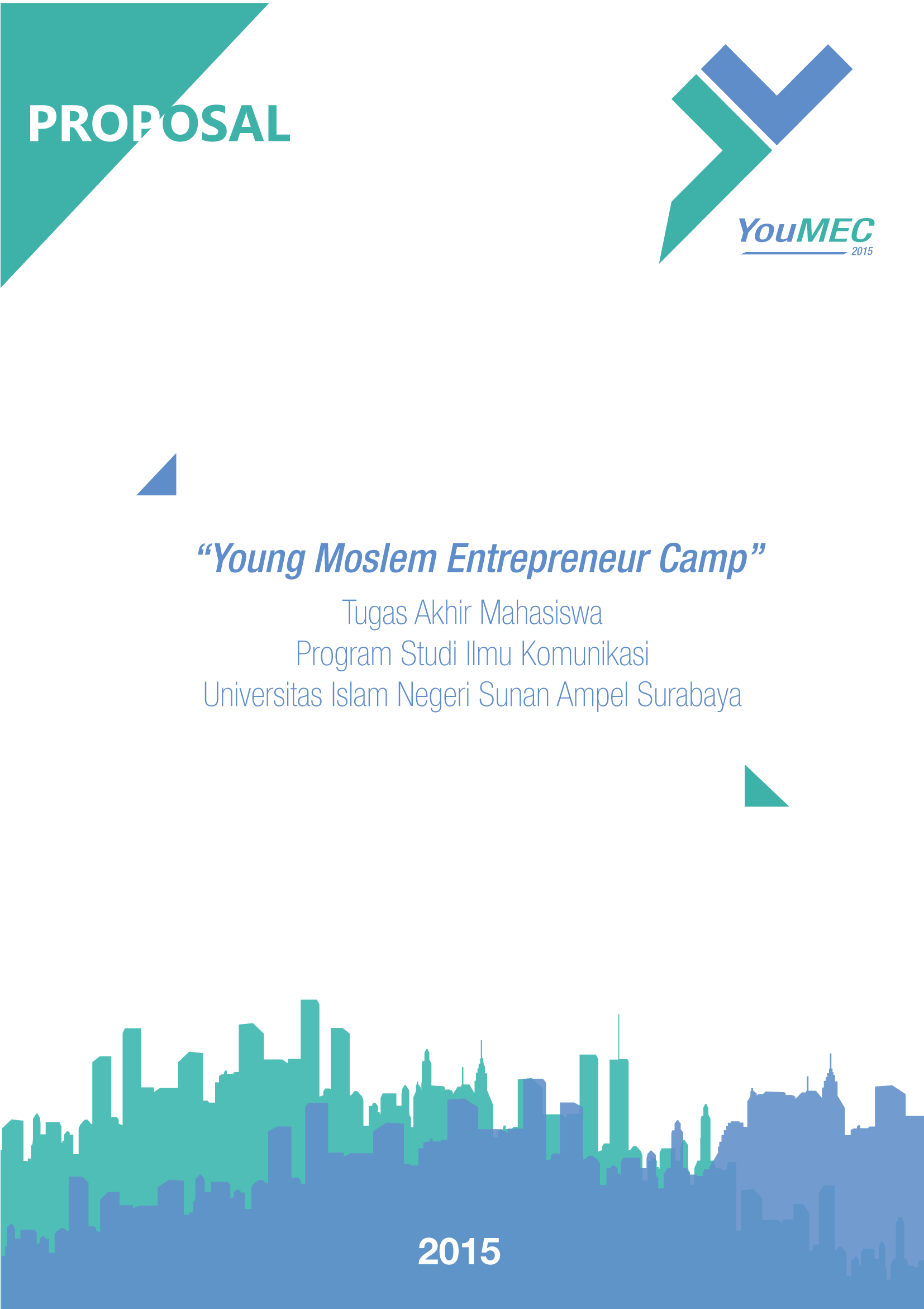 Desain Cover Proposal Event Youmec Young Moslem Entrepreneur Camp