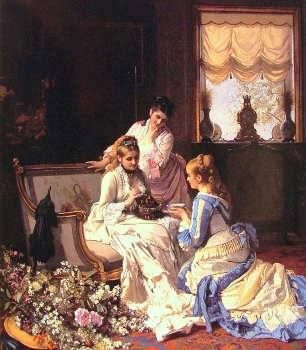 Baugniet, Charles (b,1814)- Spring's New Arrivals