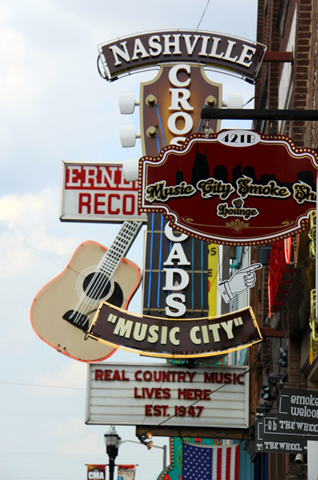 Music Row in Nashville, Tennessee (aka Music City) I can't