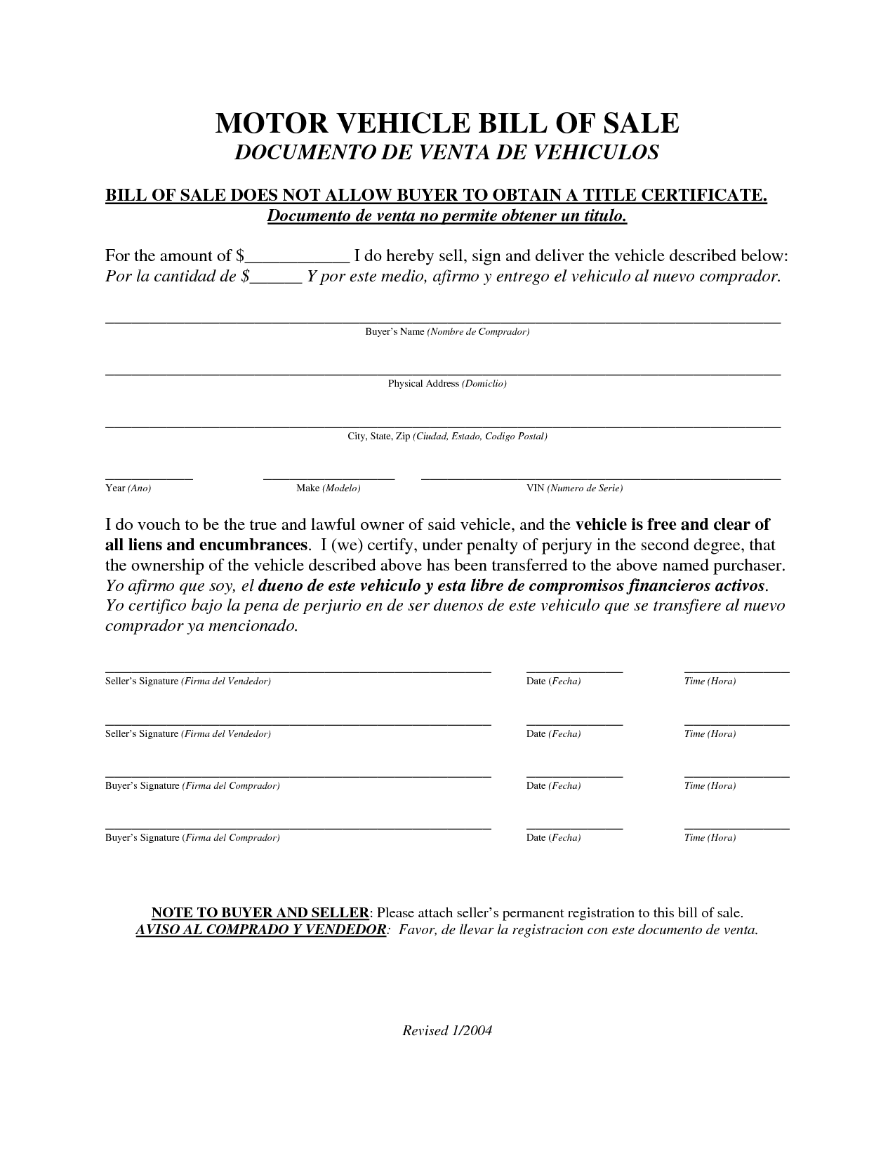 Vehicle Bill Of Sale Texas Template Bill Of Sale Template Sale Commercial Vehicle