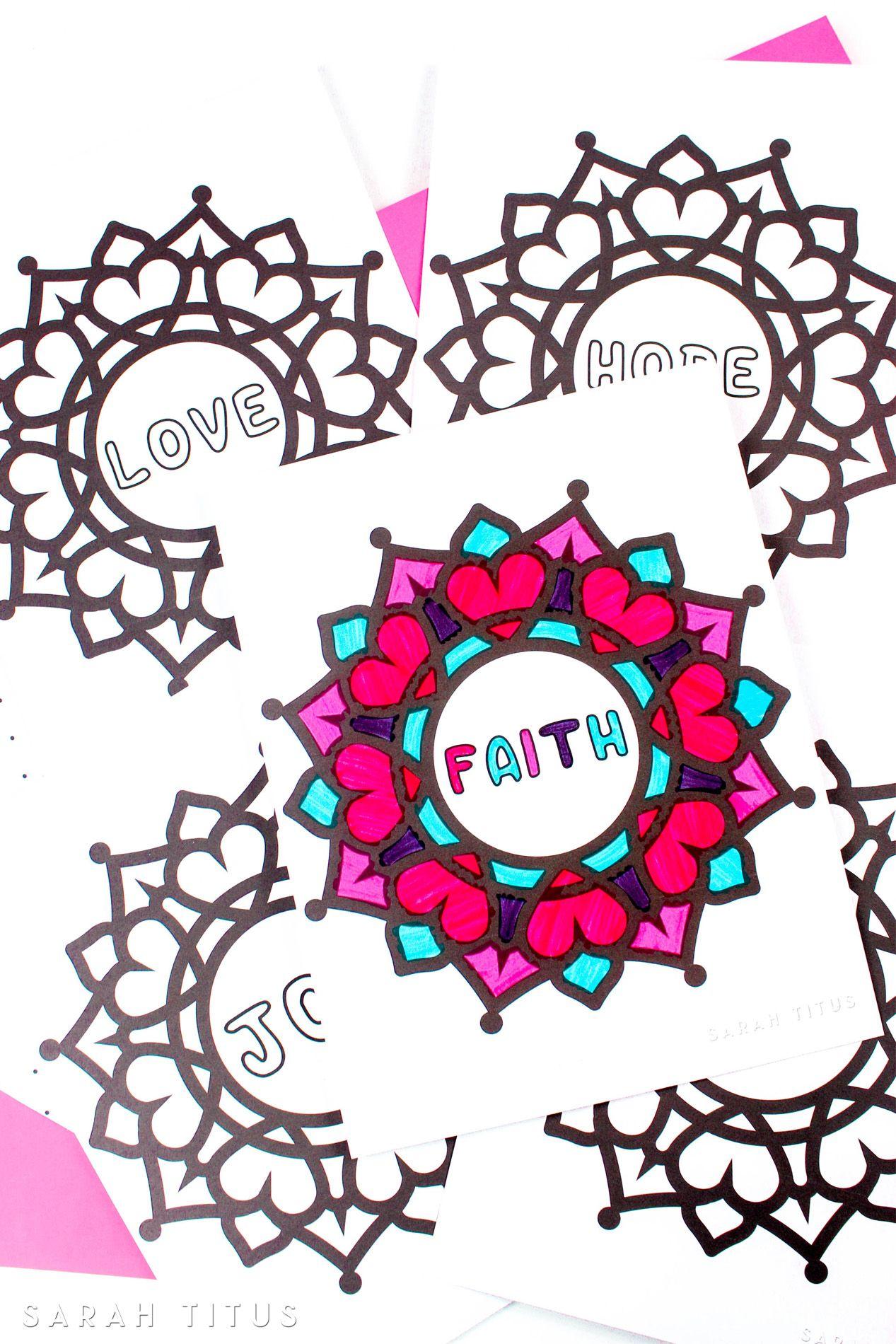 Free Printable Faith Hope Love Coloring Sheets