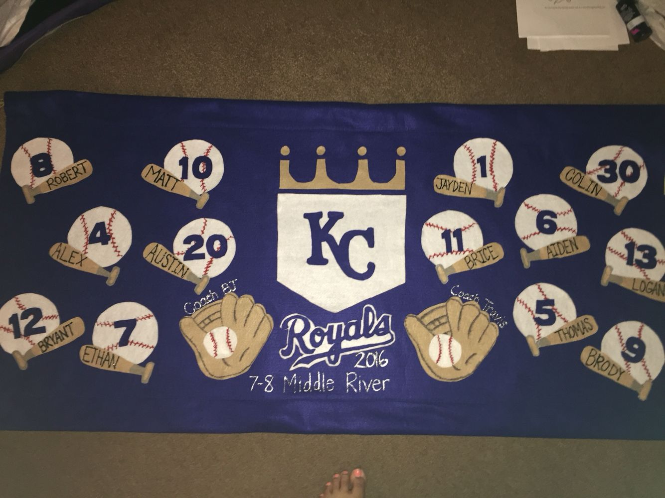 Parade Banner for little league opening day | team mom