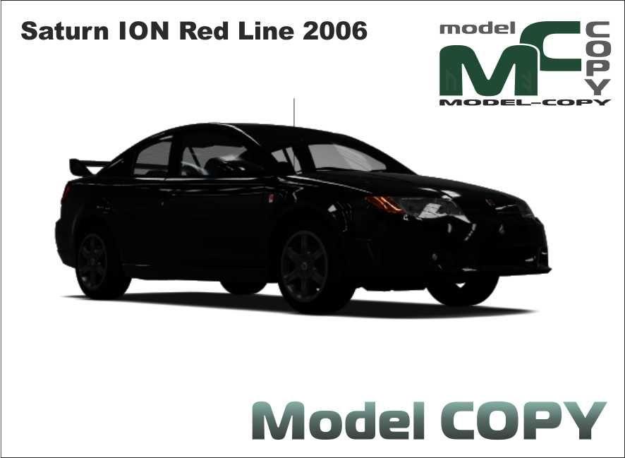 Saturn Ion Red Line 2006 3d Model Model Copy Saturn 3d Model