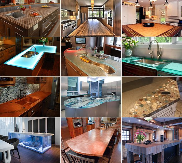 Composite Countertops Kitchen Ideas And Modern: Modern Kitchen Countertops From Unusual Materials: 30