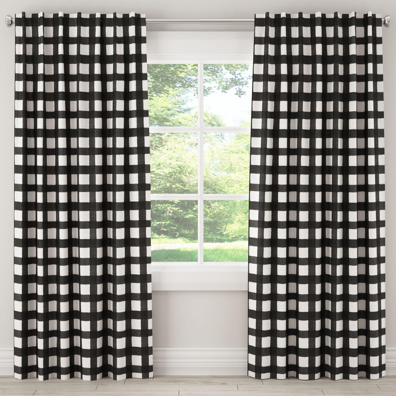 Lulu Georgia Black Buffalo Check Curtain Panel My Muse