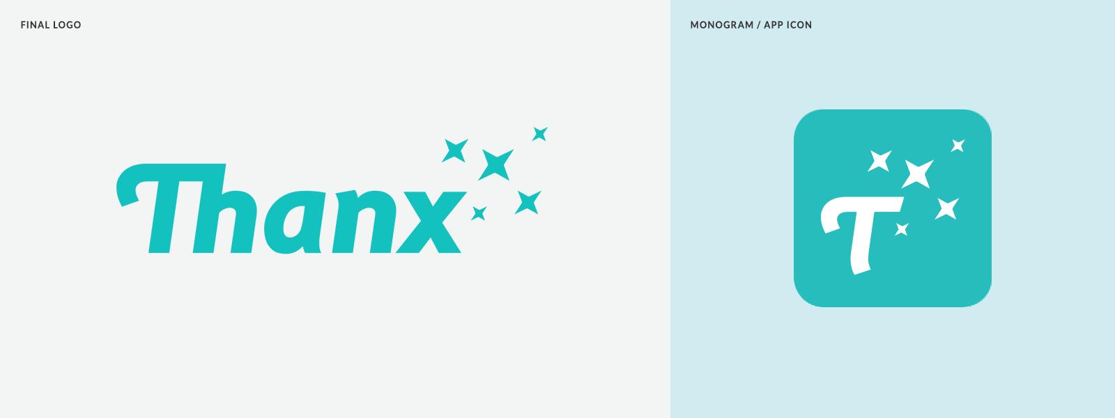 Rebranding Thanxinc A Fast Growing Tech Company Rebranding Monogram App Monogram Logo