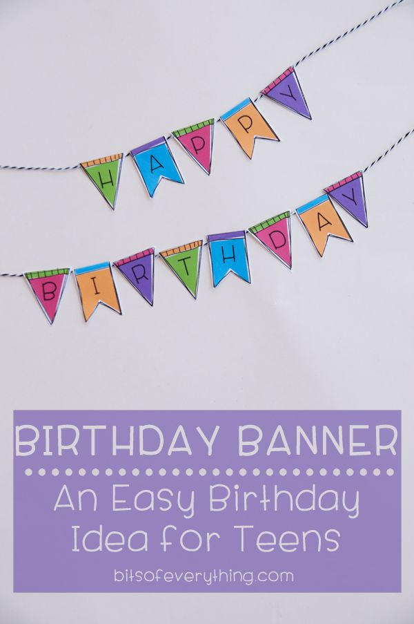 What a great idea Print and cut out the free birthday printable