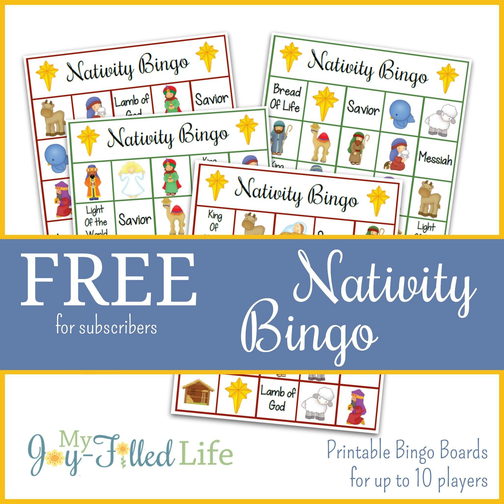 Best 25 Nativity Bingo Ideas