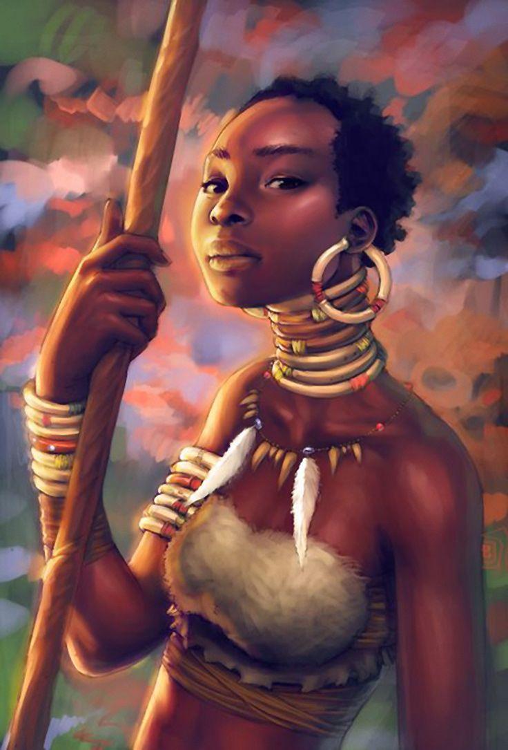 Afrobougee mattahan contemporary figurative art african