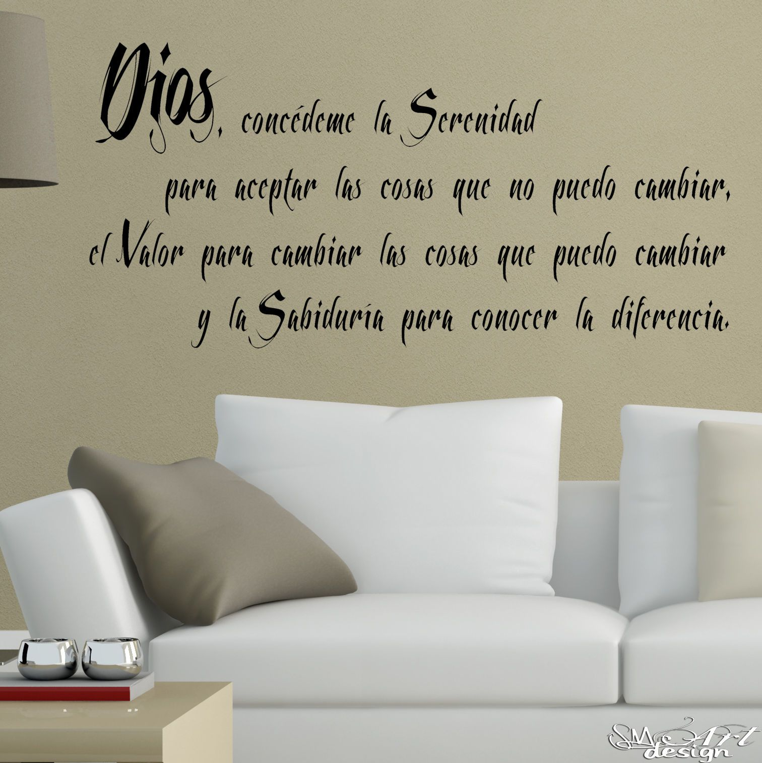 Serenity Prayer Wall Decal Spanish Oracion De La Serenidad Decor Vinyl Sticker