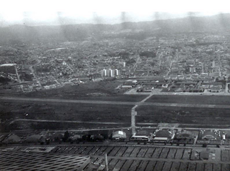 1970 Campo De Marte Fotografia Obliqua Da Base Aerea Tomada