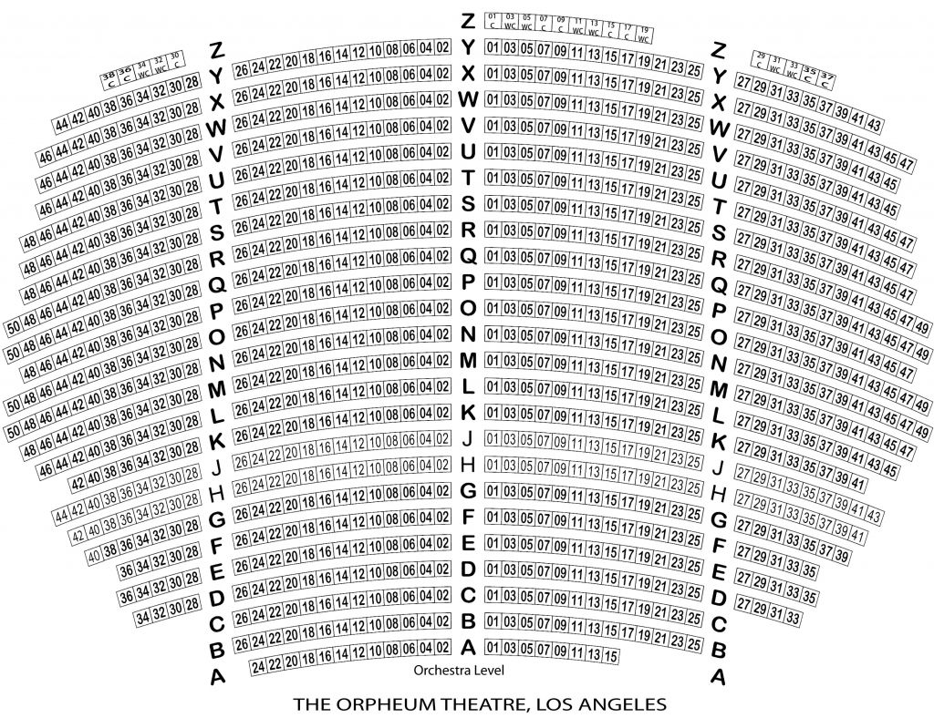 The Brilliant And Gorgeous Orpheum Theater Sf Seating Chart Seating Charts Seating Plan Theater Seating