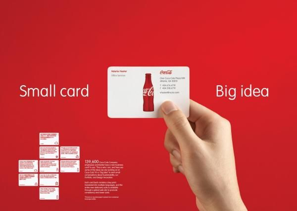 CocaCola System Visual Identity Business Card Design
