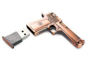 Aarntech (Tm) High Quality 16 Gb Metal Gun USB Flash Memory Drive