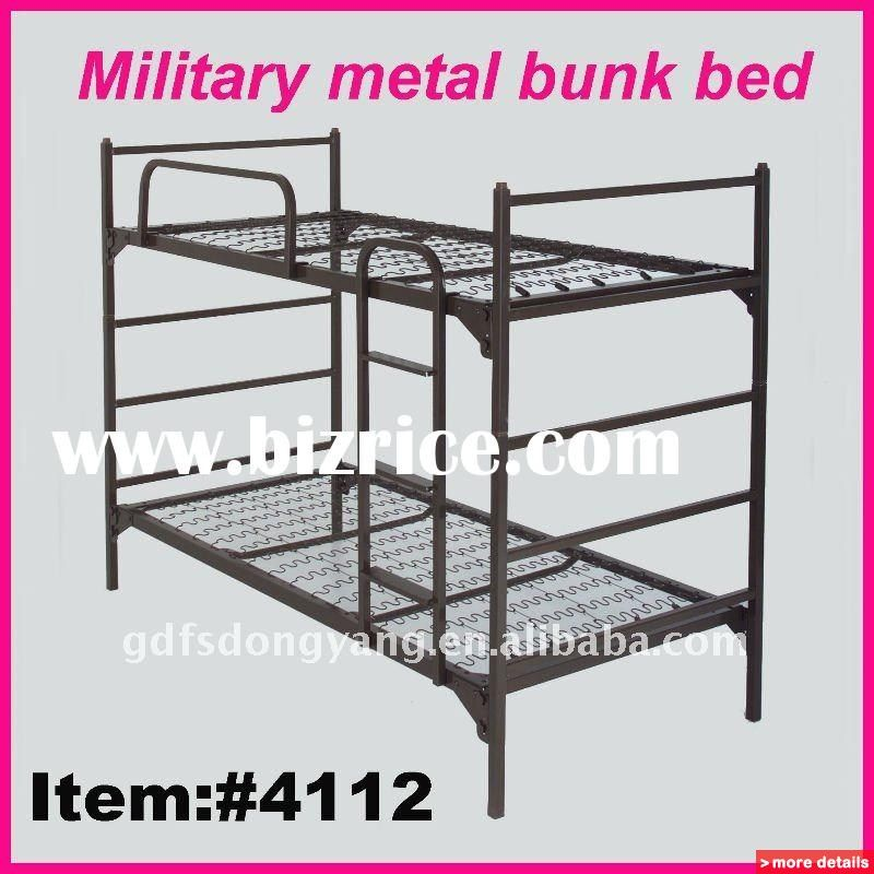 Dormitory Metal Bunk Beds Military Springs Bunk Bed China Metal