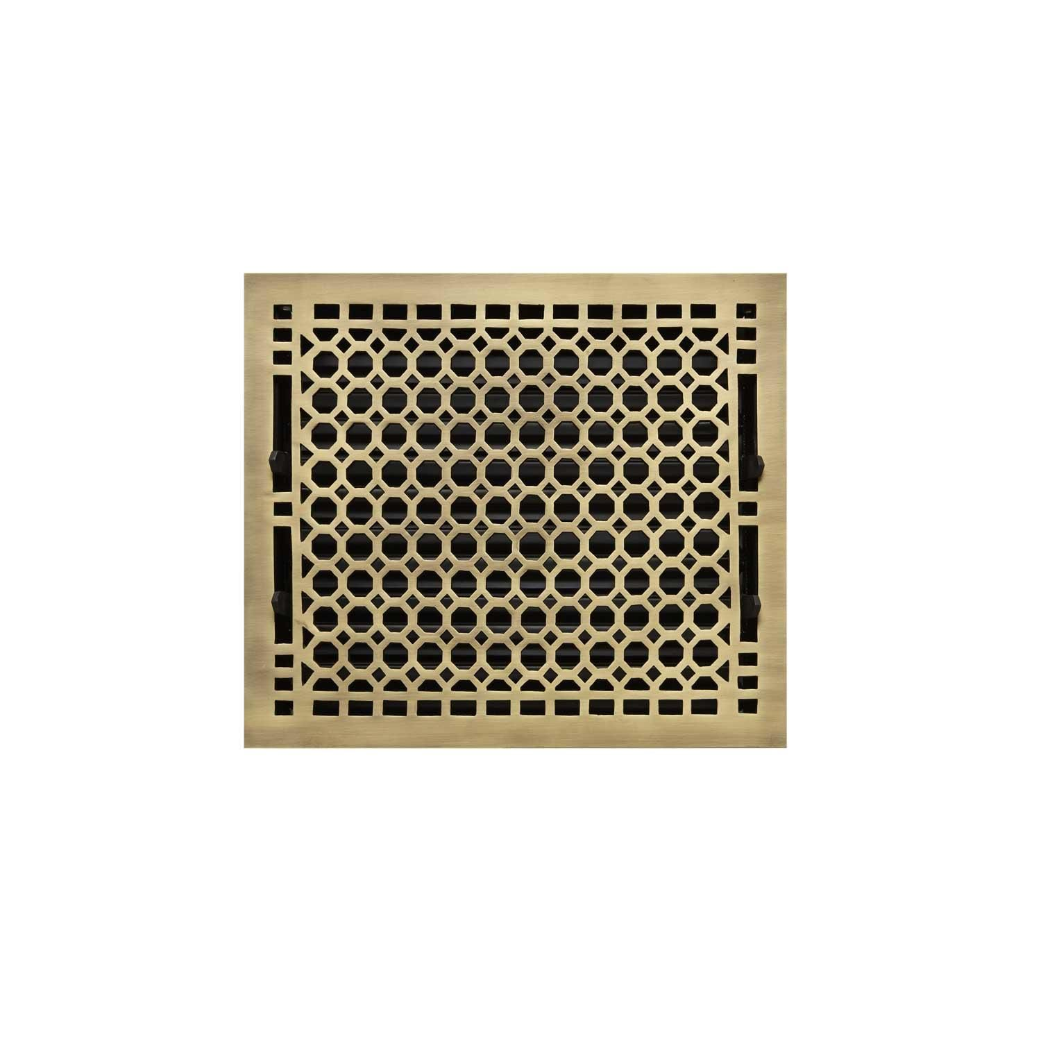 Honeycomb Brass Floor Register Antique Brass 10 X12 11 X13 3 8 Overall Floor Registers Wall Registers Signature Hardware