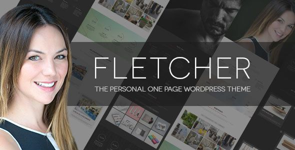 WordPress One Page Theme - Fletcher Resume, Templates and Resume - wordpress resume template