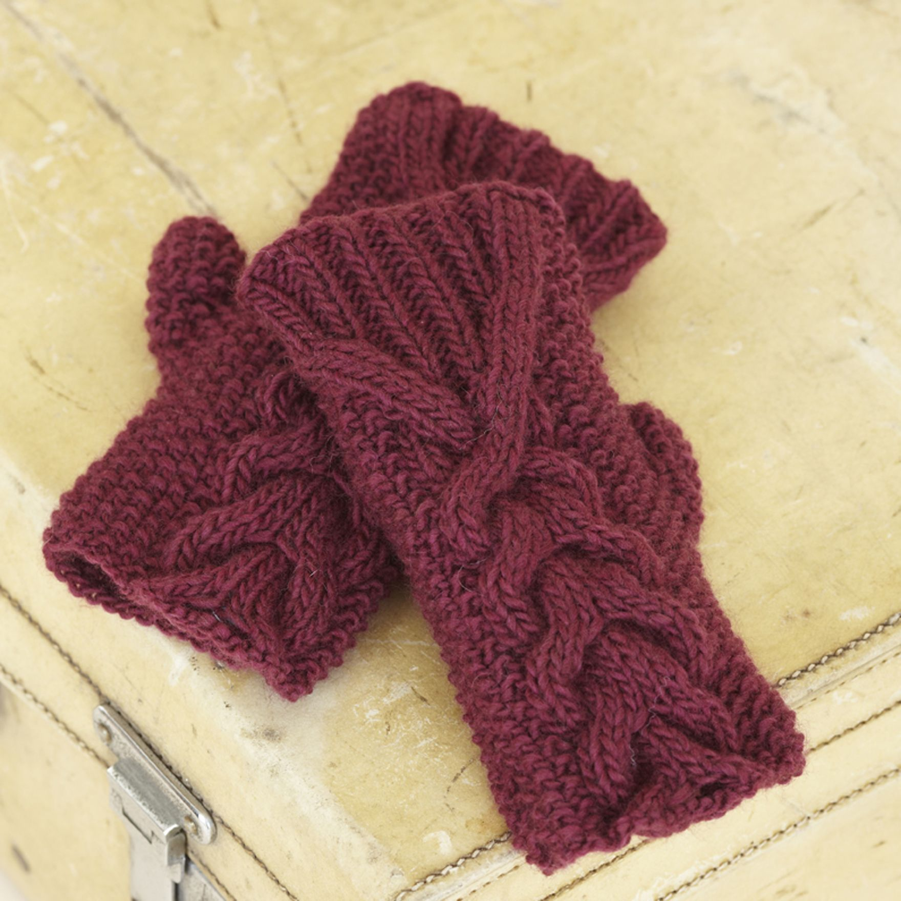 The Sublime London Girl Mitts from The Sublime Natural Aran hand knit book - incredible 3D cable texture.