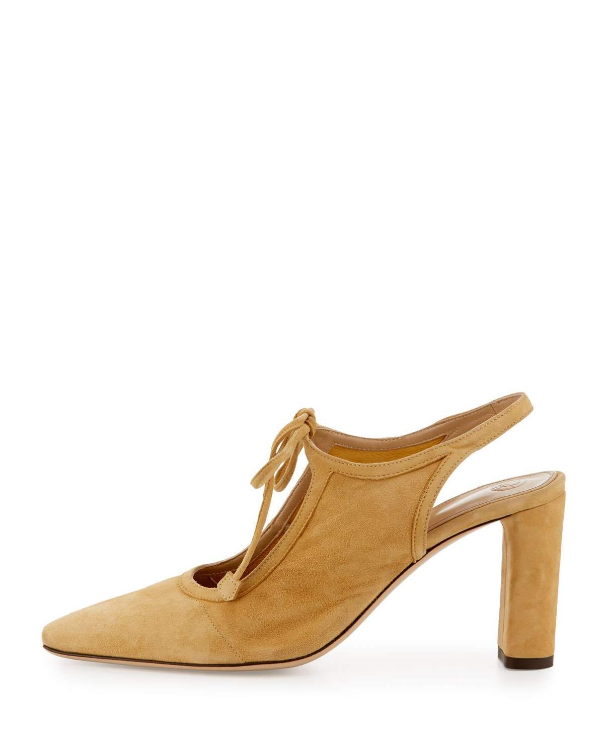 b4e98424be THE ROW Camil Suede Tie-Front Pump | Products | Shoes, Pump shoes ...