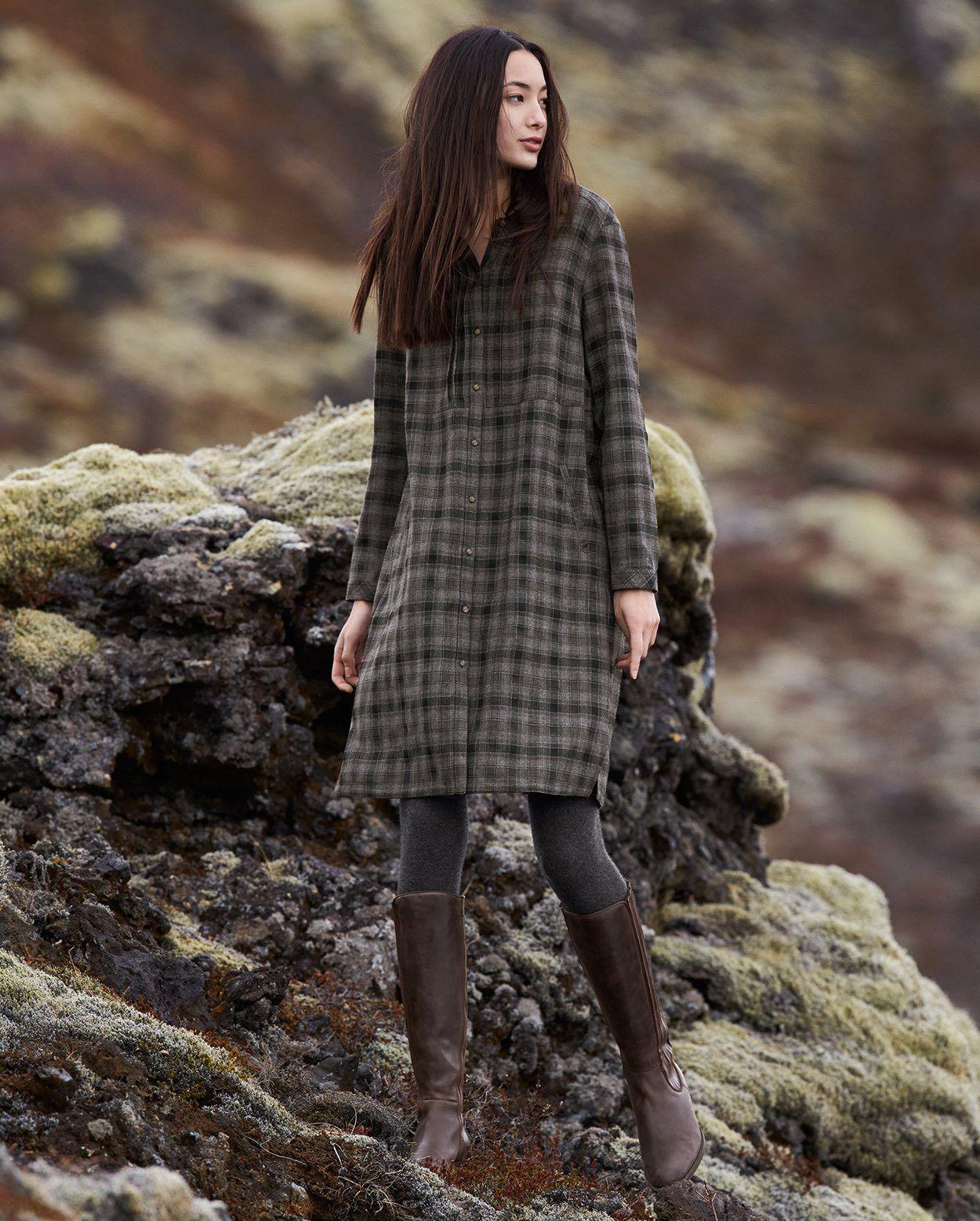 #poetryfashion Checked wool dress