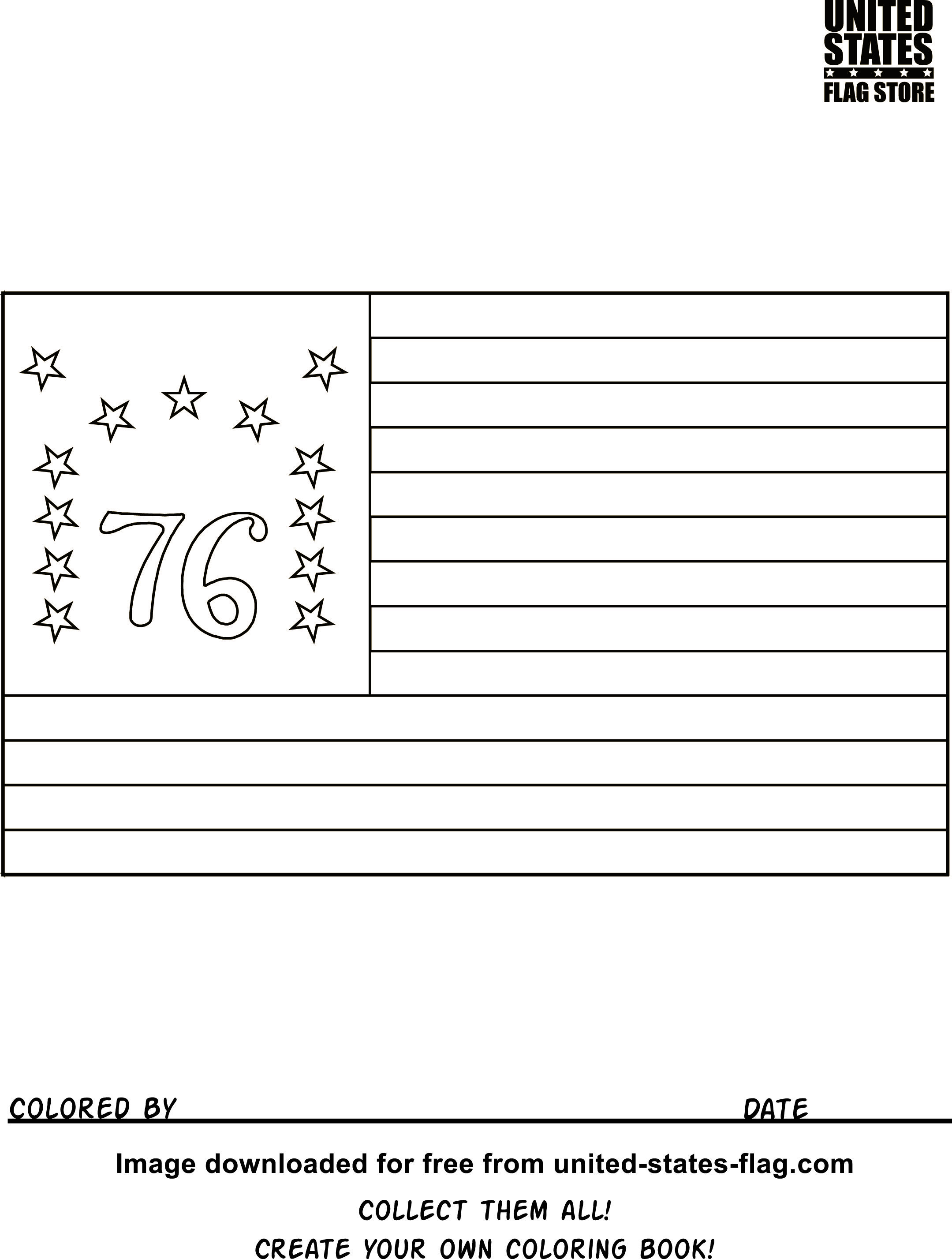 Bennington Flag Coloring Page Google Search Flag Coloring