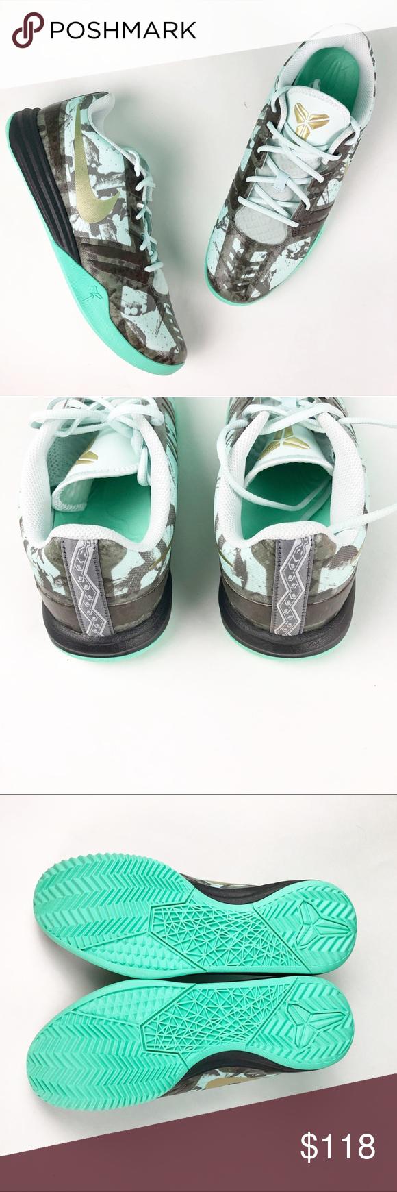 0e4cd1a83068 Nike Kobe Bryant Mentality Mint Sneakers G7 Nike KB Kobe Bryant Mentality  Fiberglass Mint Metallic Pewter