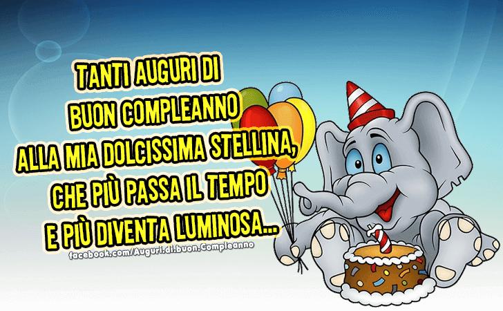 Tanti Auguri Di Buon Compleanno Alla Mia Dolcissima Stellina