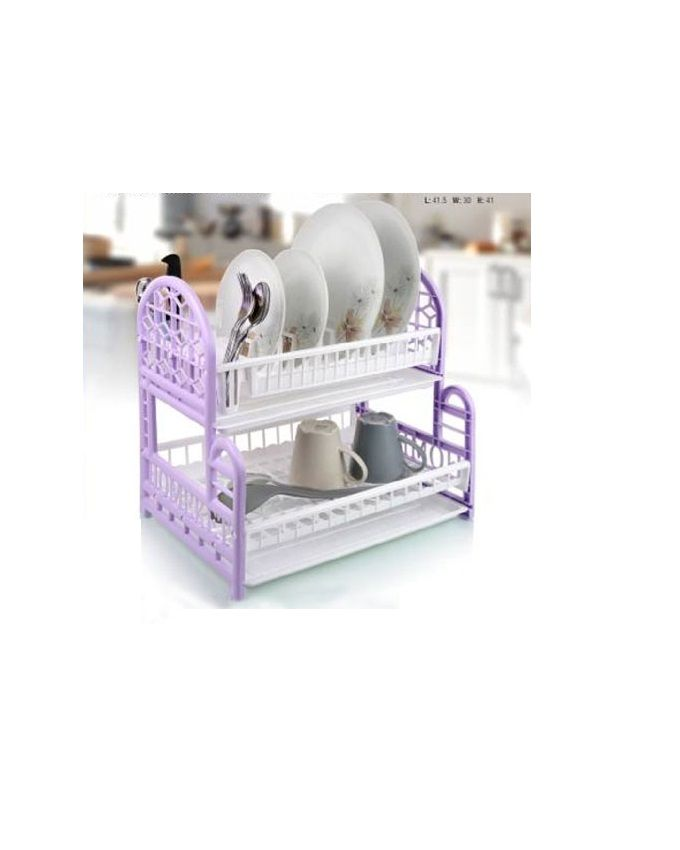 High Quality 2 Tier Bpa Free Plastic Dish Drainer The Top Tier Is