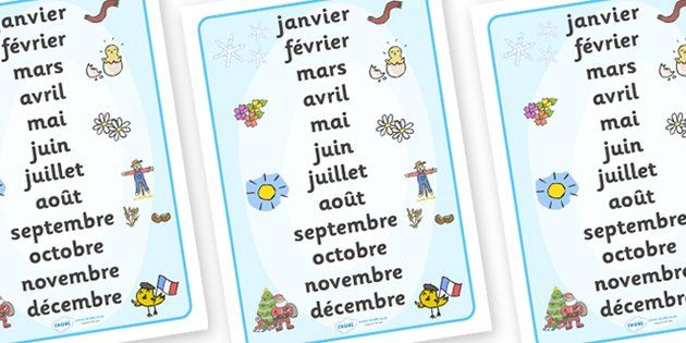 months of the year word mat french french months in a year primary resources french. Black Bedroom Furniture Sets. Home Design Ideas