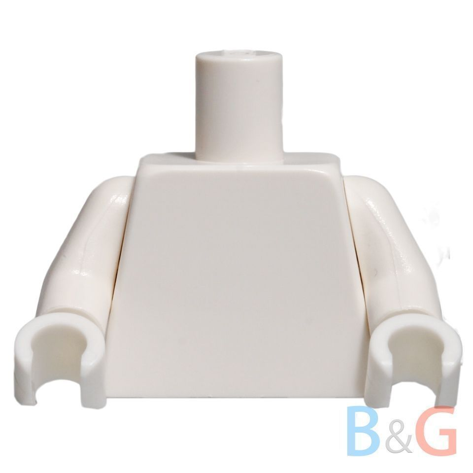 NEW Lego Girl//Boy Minifig Plain TAN TORSO Star Wars Yellow Hand Blank Body Upper
