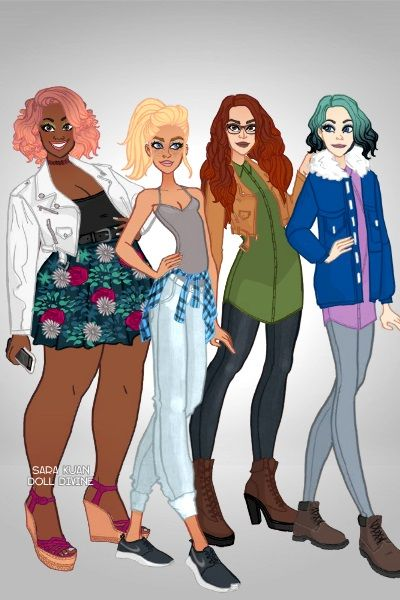 The 4 Seasons By Chic Geek The Fly Squad Fashion Dress Up Geek Stuff Doll Divine Chic