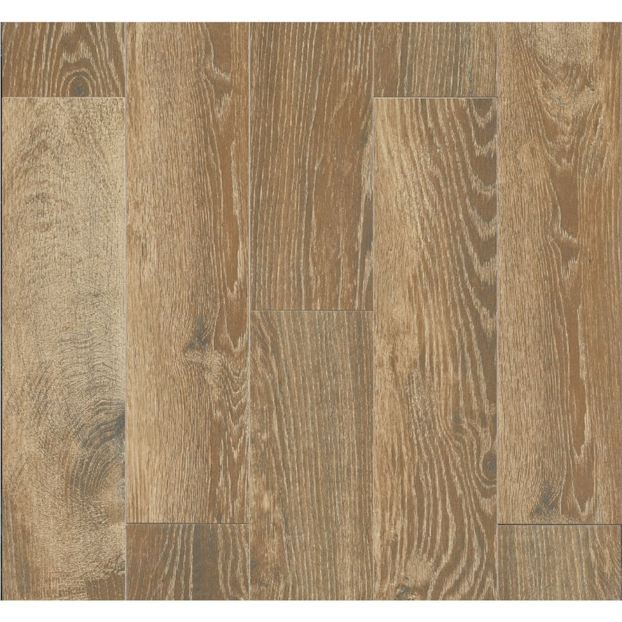 Shop style selections natural timber cinnamon glazed porcelain floor tile common 6 in x 24 in - Lowes floor tiles porcelain ...