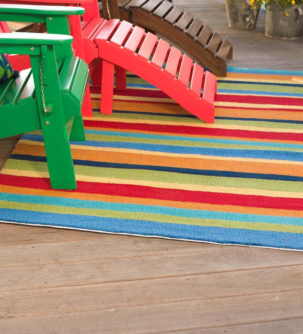 Fiesta Stripe Outdoor Rug 8 X 10 Collection