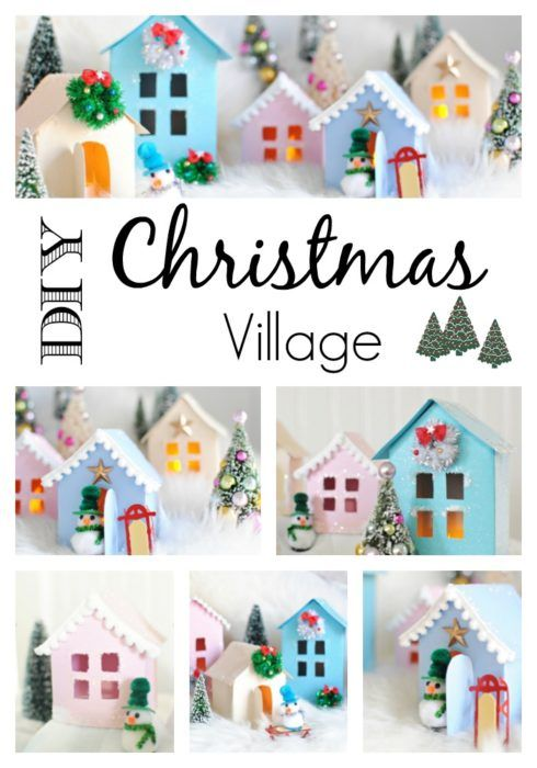 christmas village free printable to make your own town country living diy christmas village diy christmas village houses diy holiday decor diy christmas village houses