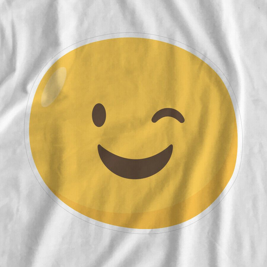 Emoji Happy Iron On Transfer Print