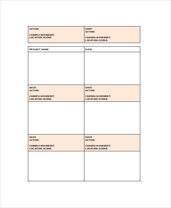 Project Storyboard Sample, corporate storyboard storyboard